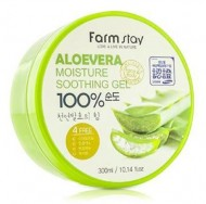 Гель с экстрактом алое вера FARMSTAY Aloe vera moisture soothing gel 300 мл: фото