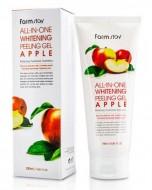 Пилинг гель с экстрактом яблока FARMSTAY All-in-one whitening peeling gel apple 180 мл: фото