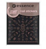 Наклейки для ногтей ЕSSENCE nail artт.15золотистыефигуры: фото