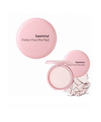 Пудра компактная розовая THE SAEM Saemmul Perfect Pore Pink Pact 11гр: фото
