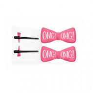 Заколки для фиксации волос во время косметических процедур Double Dare OMG! ярко-розовые 2шт: фото