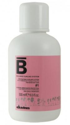 Лосьон для химической завивки нормальных волос №1 Davines BALANCE CURLING SYSTEM Protecting curling lotion #1 500 мл: фото