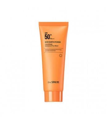 Крем солнцезащитный для лица и тела THE SAEM Eco Earth Power Face & Body Waterproof Sun Block N 100гр: фото