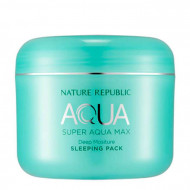 Маска для лица ночная NATURE REPUBLIC SUPER AQUA MAX DEEP MOISTURE SLEEPING PACK(RR) 100мл: фото