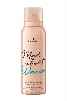Сухой шампунь для тонких, нормальных и жестких волос Schwarzkopf Professional Mad About Waves Refresher Dry Shampoo 150 мл: фото