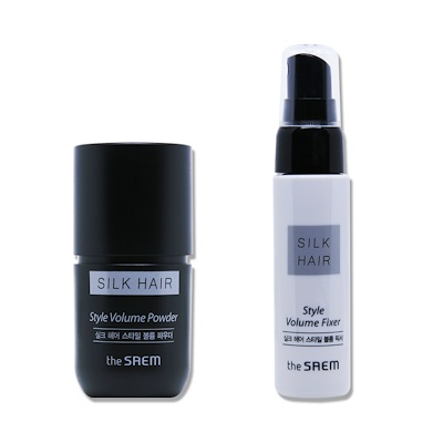 Набор для укладки волос The Saem Silk Hair Style Volume Powder Set 02 Natural Brown 30мл/10гр: фото