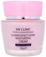 Увлажняющий крем для лица с цветочными экстрактами 3W CLINIC Flower Effect Extra Moisturizing Cream: фото