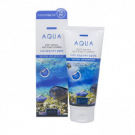 Пенка для умывания с аквамарином JIGOTT Natural Aqua Foam Cleansing: фото