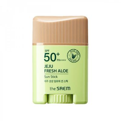 Стик солнцезащитный с экстрактом алоэ THE SAEM Jeju Fresh Aloe Sun Gel: фото