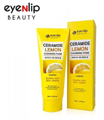 Пенка для умывания Eyenlip CERAMIDE LEMON CLEANSING FOAM 100мл: фото
