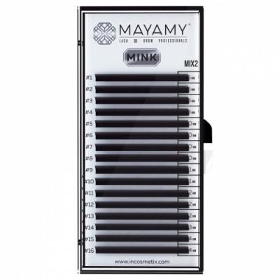 Ресницы MAYAMY MINK 16 линий С 0,07 MIX 2: фото